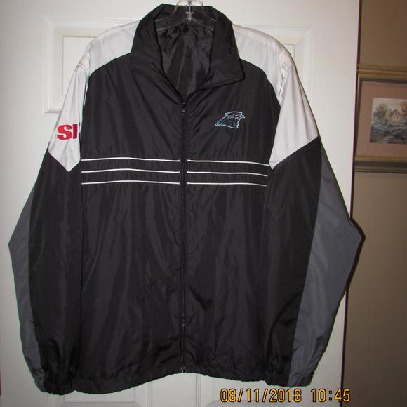 best service d9c45 6ea0d CAROLINA PANTHERS SI Jacket Windbreaker NFL XL Cam